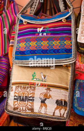 Souvenir Shop Display Lima Peru - Stock Image