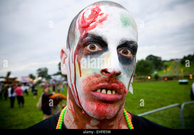 Zombies at Big Chill festival 2009. - Stock Image