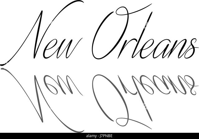 New Orleans text illustration on white background - Stock Image