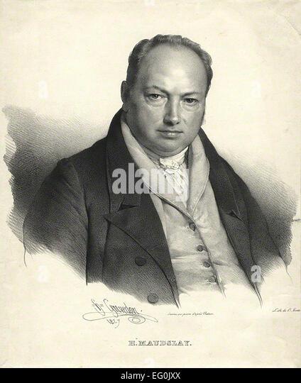 HENRY MAUDSLEY (1771-1831) English machine tool inventor in an 1827 lithograph - Stock-Bilder