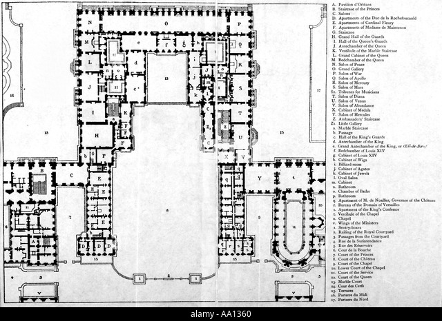 Reign of louis xiv stock photos reign of louis xiv stock for Versailles house floor plan