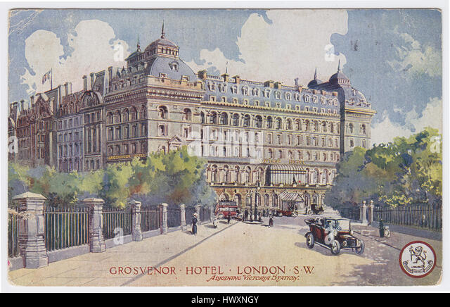 Grosvenor Hotel, adjoining Victoria Station. London, United Kingdom - Stock Image