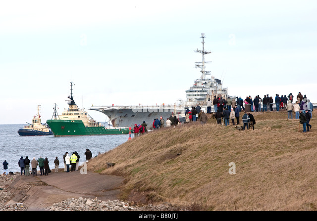 Clemenceau Aircraft Carrier - Stock Image