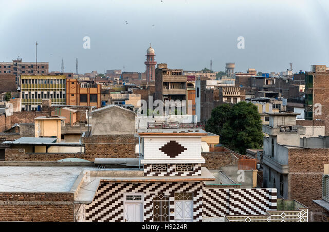 Peshawar is the capital and the largest city of Khyber Pakhtunkhwa Pakistan. - Stock Image