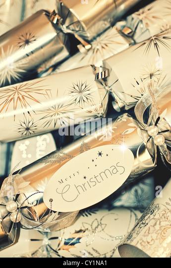 christmas crackers - Stock Image
