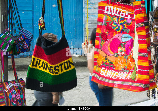 The colourful blending of cultures in Livingston, Guatemala - Stock-Bilder