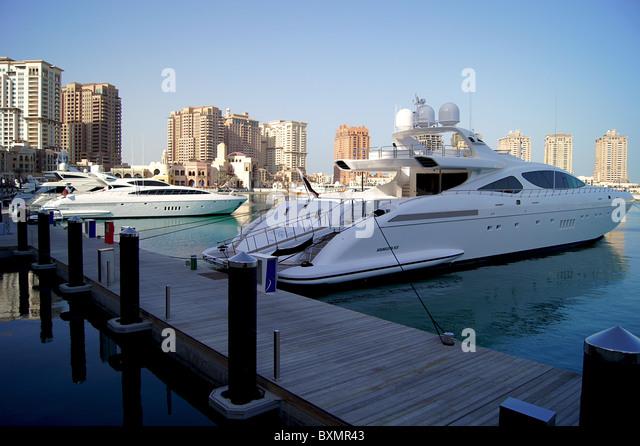 'The Pearl Qatar' Marina - Stock Image