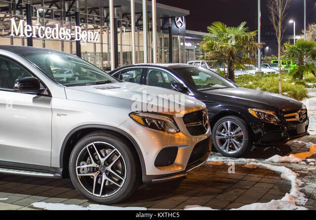 Mercedes benz car dealership sign stock photos mercedes for Mercedes benz canada vancouver