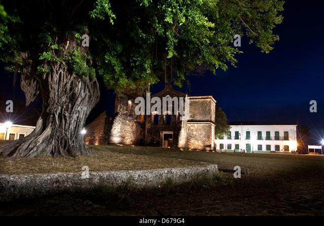 Ruins of the Matriz de São Mathias church, Alcântara, Maranhão State, Brazil. - Stock Image
