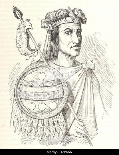 MONTEZUMA - from 'Cassell's Illustrated Universal History' - 1882 - Stock Image