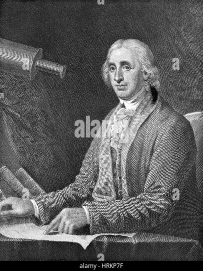 David Rittenhouse, American Astronomer - Stock Image