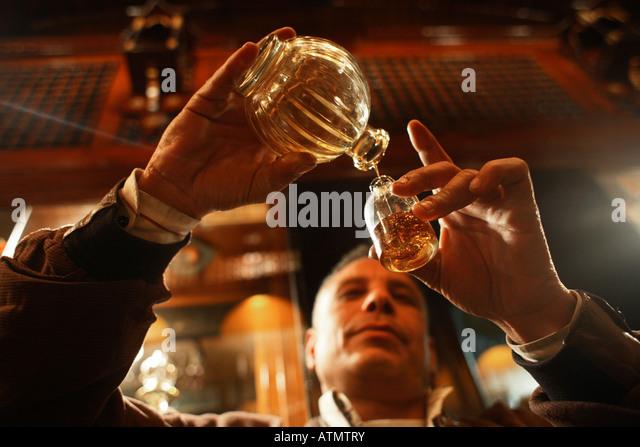 Essential oils in Cairo - Stock Image