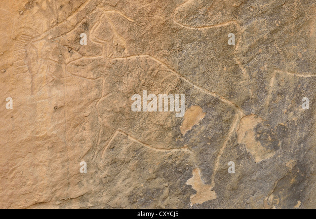 Carving stone age stock photos