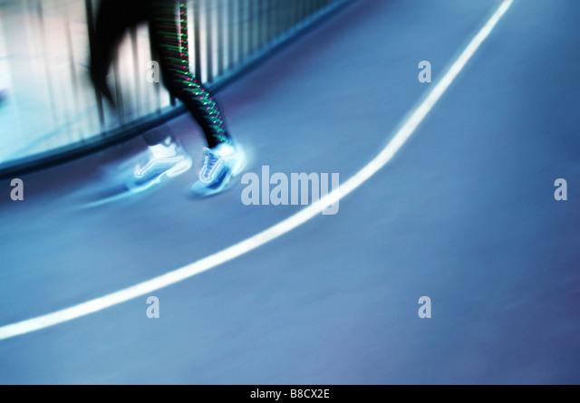 FV2023, Benjamin Rondel; Feet running around track - Stock Image