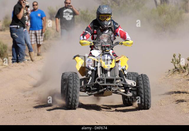 Jun 06, 2009 - Valle de la Trinidad, Baja Norte, Mexico - WAYNE MATLOCK, winner of Class 25 over 251cc Pro ATV) - Stock Image