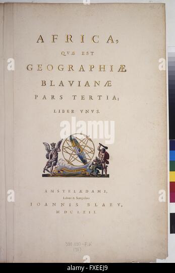 Titelblatt zu Atlas Maior, Teil 3 - Stock Image