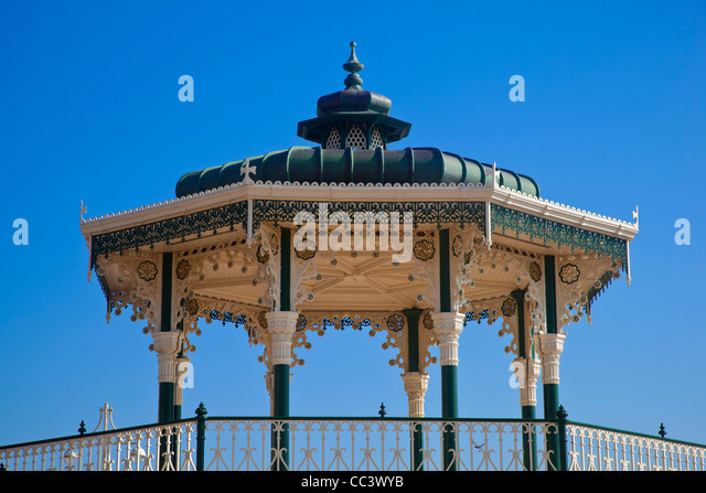 UK, England, Sussex, Brighton, Bandstand - Stock-Bilder