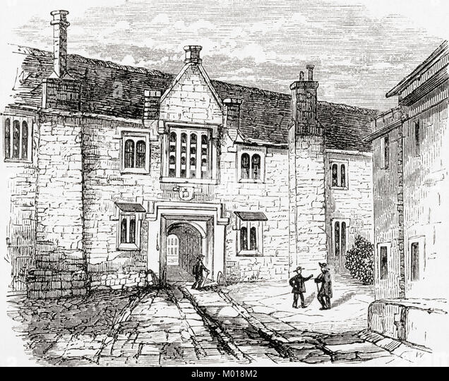 The Charterhouse, Charterhouse Square, Smithfield, England.  From Ward and Lock's Illustrated History of the - Stock Image