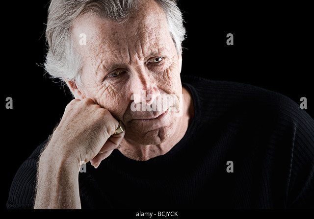 Powerful Shot of a Frustrated Looking Senior Man - Stock Image