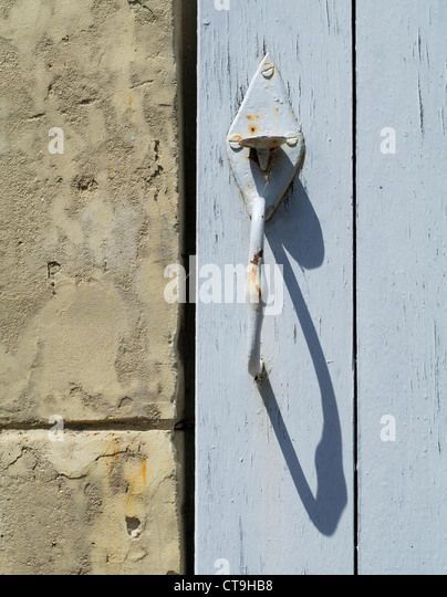 Old decorative door latch - France - Stock Image