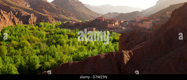 Panoramic landscape photo of Dades Gorge, Morocco, North Africa - Stock Image