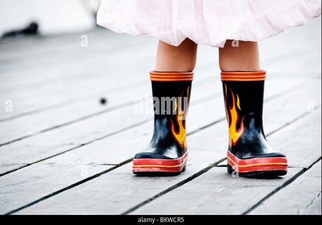 Cool rubber boots - Stock-Bilder