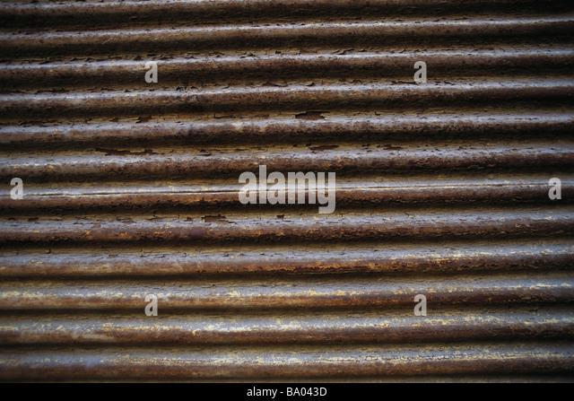 Corrugated metal - Stock Image