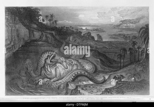 The Country of the Iguanodon - Stock Image