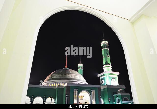 Agung Baitul Hikmah Mosque's Dome in Berau - Stock Image