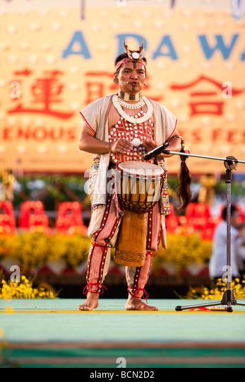 Singer Yijidadao, 2007 Taiwan Golden Melody Award winner. 2009 Indigenous Cultures Festival in Hualien, Taiwan - Stock-Bilder