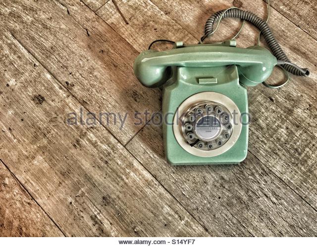 Old school telephone - Stock-Bilder