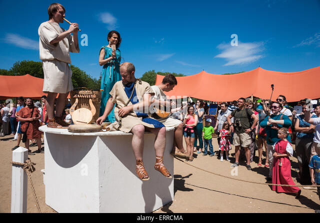 Moscow, Russia, Sunday, June 7th, 2015. Annual Times and Epochs festival took place in Moscow on June 6th and 7th, - Stock-Bilder