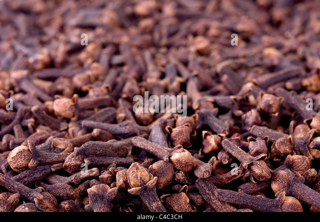 Cloves background - Stock Image