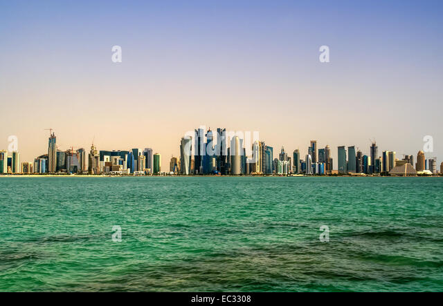 Modern city Doha,Qatar - Stock Image