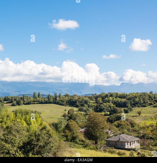 View of Caucasus mountains, Abkhazia - Stock Image