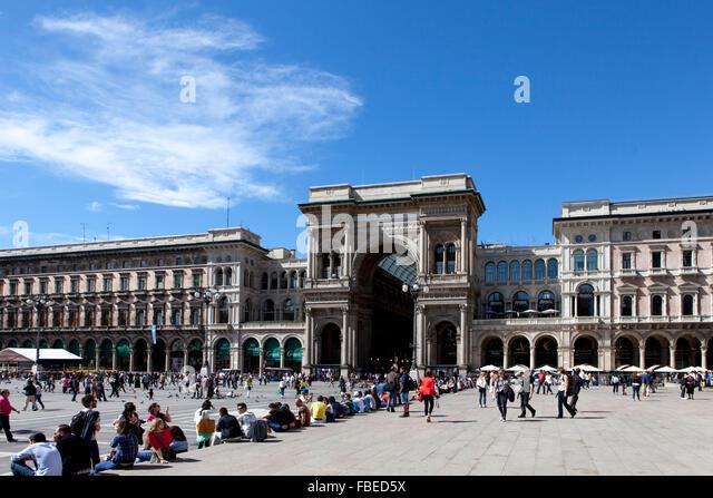 galleria vittorio emanuele,milan - Stock Image