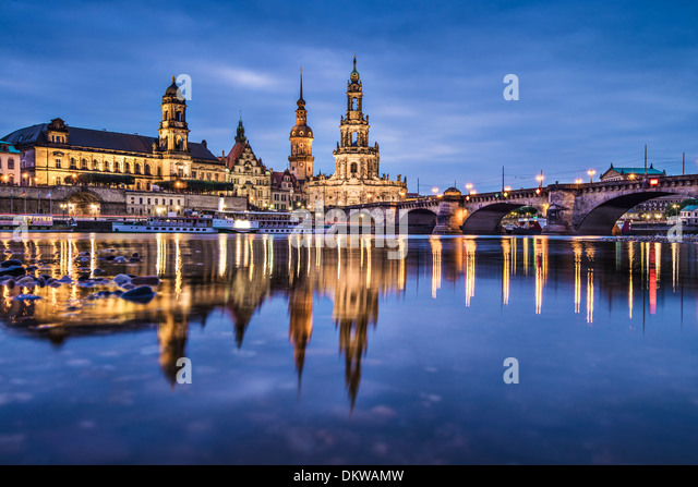 Dresden, Germany above the Elbe River. - Stock-Bilder