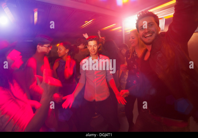 Group of people at party - Stock Image