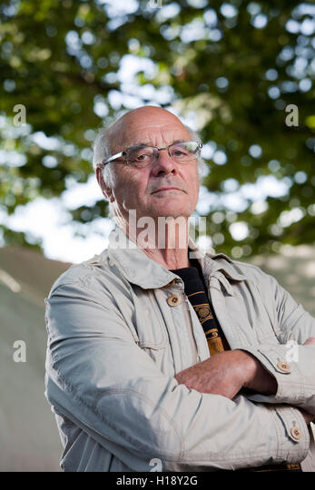 Martin Carver, Professor of Archaeology and author, at the Edinburgh International Book Festival. Edinburgh, Scotland. - Stock Image