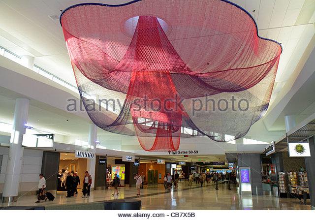 California San Francisco San Francisco International Airport SFO Terminal 2 concourse public art sculpture installation - Stock Image