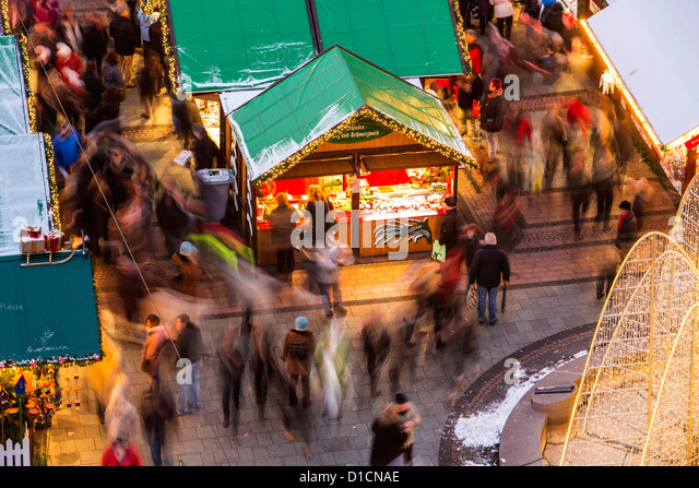 Christmas market in the city center of Essen, Germany, Europe - Stock Image