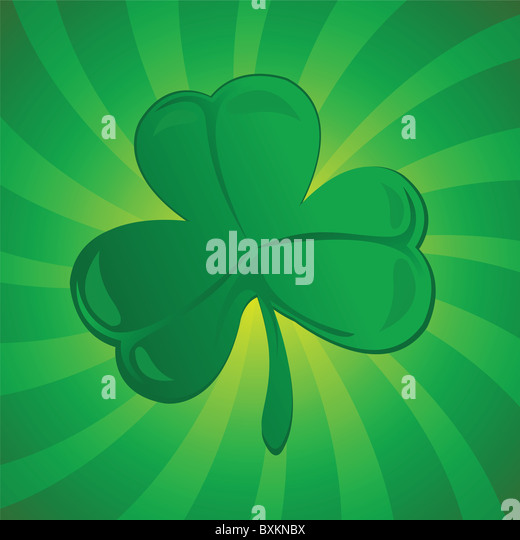 clover or shamrock - Stock Image