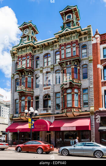 Wyatt Earps Historic Gambling Hall and Saloon on 5th Avenue in the old Gaslamp Quarter, San Diego, California, USA - Stock Image