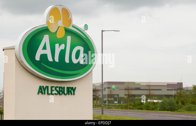 General View GV of Arla fresh milk dairy, Aylesbury, Buckinghamshire, England, Britain - Stock Image
