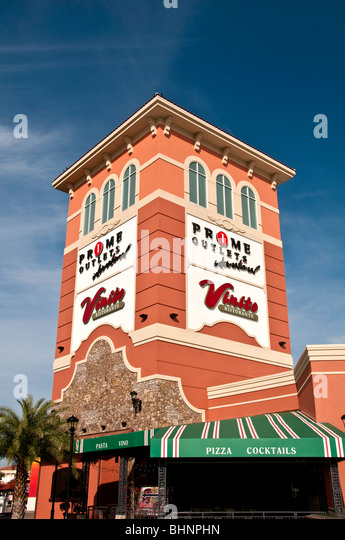 Prime Outlets discount mall international drive orlando fl florida shopping - Stock Image