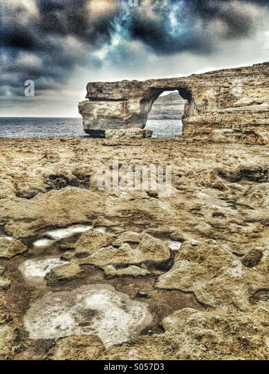 Azure window at dawn - Stock Image