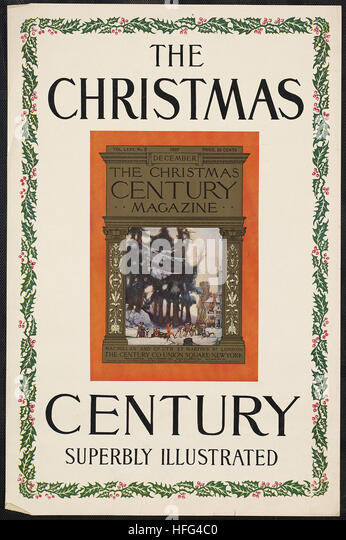 The Christmas century, superbly illustrated - Stock Image