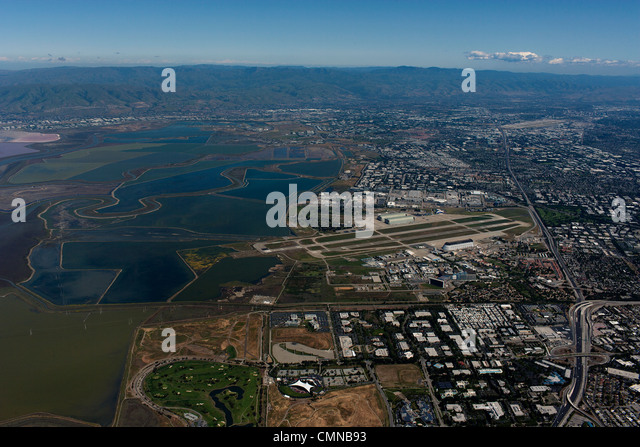 aerial photograph Mountain View, Silicon Valley, California - Stock Image