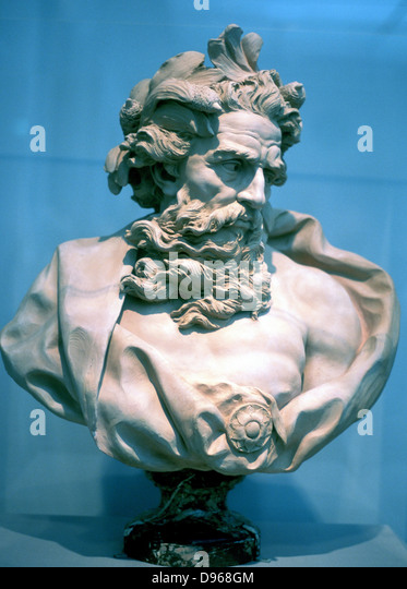 Neptune, god of the oceans. From an antique bust - Stock-Bilder