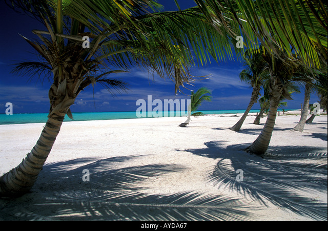Dominican Republic beach Playa Juanillo bedach Cap Cana  Punta Cana area - Stock Image